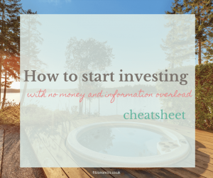 how to start investing cheatsheet