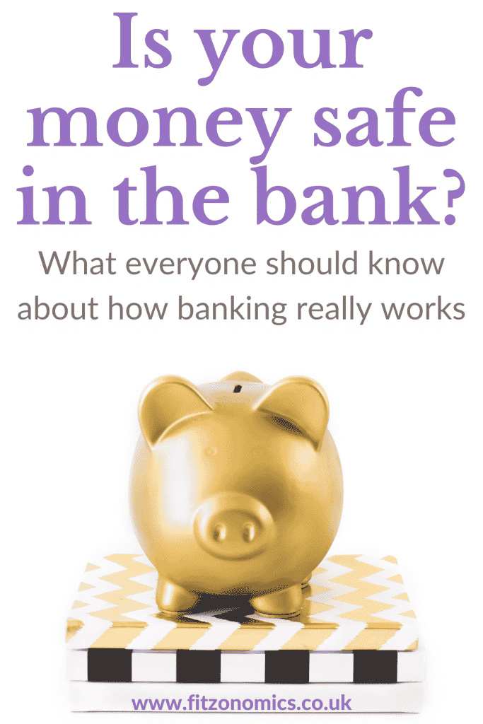 fractional reserve banking golden pig on books. Title: is your money safe in the bank
