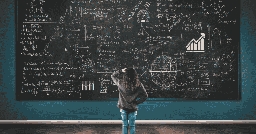 How to pick stocks for the perpetually confused women scratching head in front of blackboard