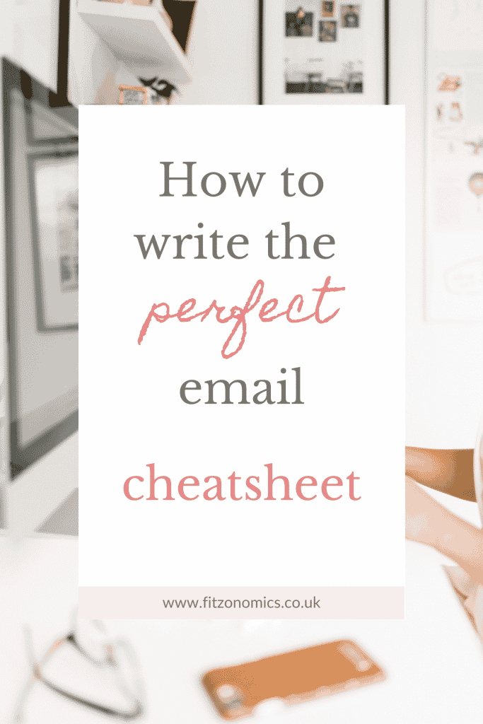 how to write the perfect email with cheatsheet