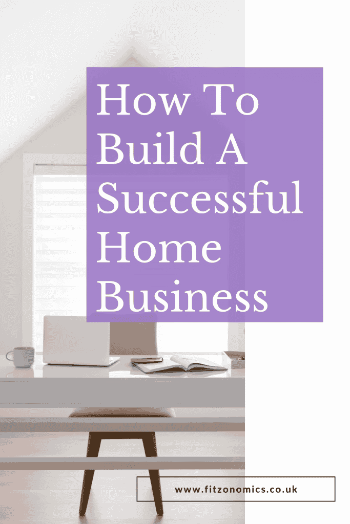 how to build a successful home business overlaying a desk with laptop and diary